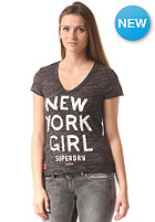 SUPERDRY Womens NY Girl S/S T-Shirt midnight marl/chalk