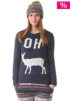 SUPERDRY Womens Oh Dear Crew navy