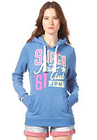 SUPERDRY Womens Orange Label Hooded Zip Sweat royal marl