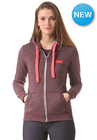 SUPERDRY Womens Orange Label Pop Hooded Zip Sweat port true grit