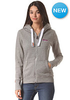 SUPERDRY Womens Orange Label Premium Hooded Zip Sweat light grey true grit