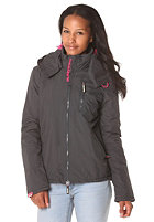 SUPERDRY Womens Polar dark charcoal/punk pink