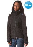 SUPERDRY Womens Pop Arctic Windcheater Zip Hooded Jacket black/cali blue marl