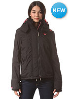 SUPERDRY Womens Pop Arctic Windcheater Zip Hooded Jacket black/shocking pink