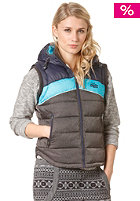 SUPERDRY Womens Retro Hooded Sherpa Gilet Vest black marl