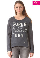 SUPERDRY Womens Shimmer Luxe Saints Crew L/S midnight marl