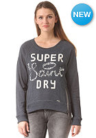 SUPERDRY Womens Shimmer Luxe Saints Crew L/S Shirt midnight marl
