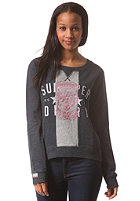SUPERDRY Womens Split Sweat eclipse navy/grey marl