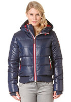 SUPERDRY Womens Sport Polar Puffer Jacket navy/red