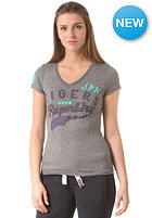 SUPERDRY Womens Sportpitch Tigers S/S T-Shirt grey grindle