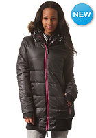 SUPERDRY Womens Sports Tall Puffer Jacket black/pink
