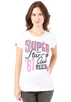 SUPERDRY Womens Star Club Tin Tab S/S T-Shirt optic