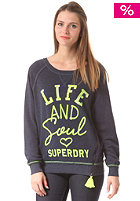 SUPERDRY Womens Tassel Crew Sweat dark navy