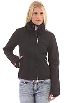 SUPERDRY Womens Technical Pop Zip Windcheater Jacket black/ice pink