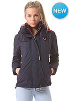 SUPERDRY Womens Technical Pop Zip Windcheater Jacket nautical navy/light coral