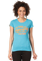 SUPERDRY Womens Ticket Type Entry S/S T-Shirt aquamarine marl