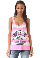 SUPERDRY Womens Tie Dye Striple winter white/fluro pink