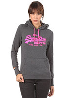 SUPERDRY Womens Vintage Dayglo Hooded Sweat tarmac marl