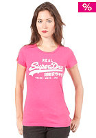 SUPERDRY Womens Vintage Entry Crew S/S T-Shirt lipstick marl