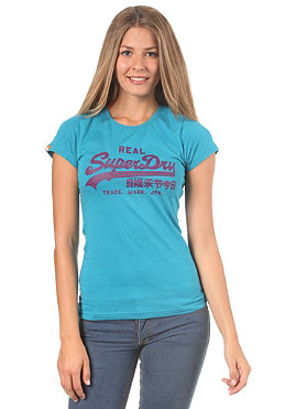 SUPERDRY Womens vintage entry S/S T-Shirt turquoise marl