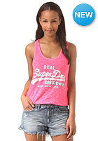 SUPERDRY Womens Vintage Logo Duo-Entry Top fluro pink