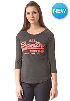 SUPERDRY Womens Vintage Logo Entry Longsleeve charcoal marl