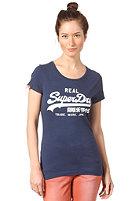 SUPERDRY Womens Vintage Logo Entry S/S T-Shirt nautical navy