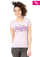 SUPERDRY Womens Vintage Logo Entry S/S T-Shirt pale purple marl