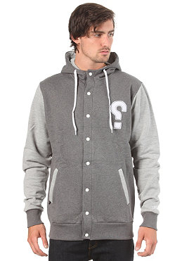 SWEET Button Up Baller Hooded Sweat charcoal