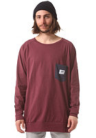 SWEET Lighter Crew Sweat wine/navy