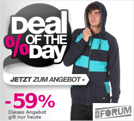 Deal of the Day FORUM Easy Hooded Zip Sweat dark magic
