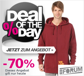 Deal of the Day FORUM Welivefm Hooded Zip Sweat moonshine