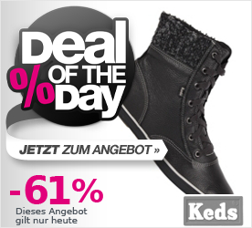 Deal of the Day KEDS Womens Chukka December Boot Leather balck