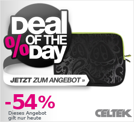 Deal of the Day CELTEK Hot Lap Notebook Sleeve 13 black/outbreak