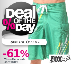 Deal of the Day FOX Showdown Boardshort green