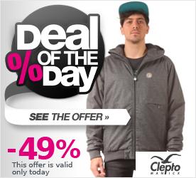 Deal of the Day CLEPTOMANICX Polarzipper Hemp Jacket heather dark gray