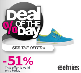 Deal of the Day ETNIES Kids Jameson 2 Eco blue/white