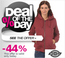 Deal of the Day DICKIES Womens Patti Hooded Zip Sweat ox-blood