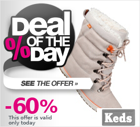 Deal of the Day KEDS Womens Cream Puff light grey