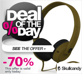 Deal of the Day SKULLCANDY Uprock On-Ear W/Mic 1 Headphones army green w/mic