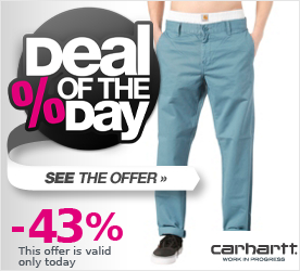Deal of the Day CARHARTT Prime Pant seattle blue mill washed