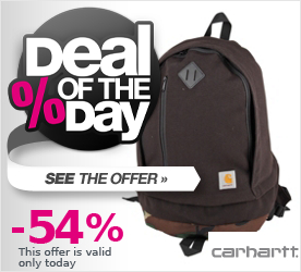 Deal of the Day CARHARTT Parcel Backpack black/camo green