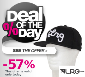 Deal of the Day LRG Core Collection Three Snapback Cap black