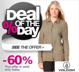 Deal of the Day VOLCOM Womens Make Rock & Love Military Shirt burnt olive