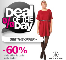 Deal of the Day VOLCOM Womens Green Room Tunic Dress red