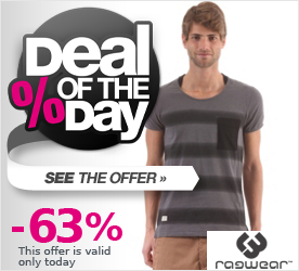 Deal of the Day RAGWEAR Ironic S/S T-Shirt black stripes