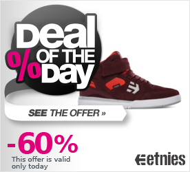Deal of the Day ETNIES Sky Rise maroon