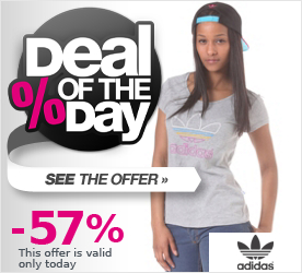Deal of the Day ADIDAS Womens Trefoil Logo S/S T-Shirt megrhe