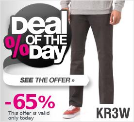 Deal of the Day KR3W K Slim 5 Pocket Pant carbon