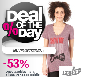 Deal of the Day VOLCOM Womens Show Me Your V-Neck T-Shirt grape juice